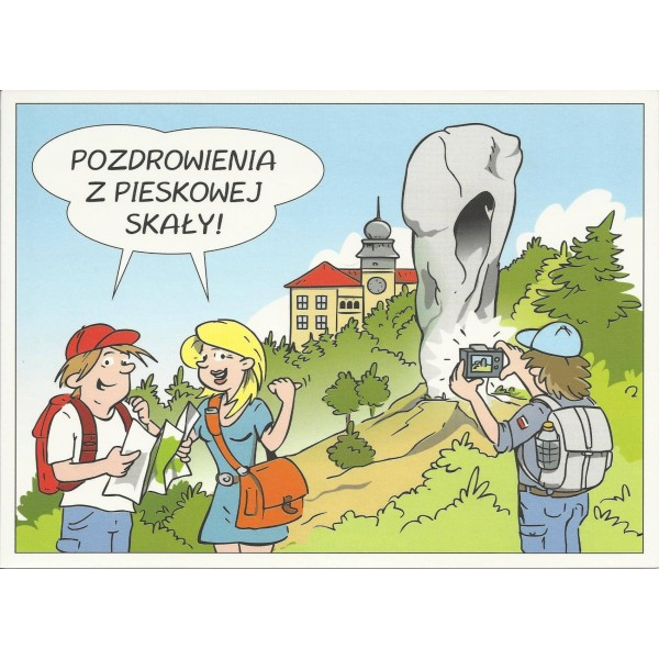 PIESKOWA SKAŁA ZAMEK MACZUGA HERKULESA WIDOKÓWKA 11R001
