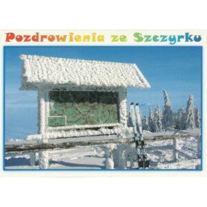 ZIMA SZCZYRK MAPA WIDOKÓWKA 11P353
