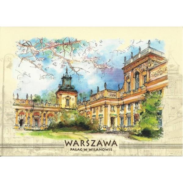 WARSZAWA WIDOKÓWKA AKWARELA CZ-WA-03