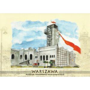 WARSZAWA WIDOKÓWKA AKWARELA CZ-WA-11