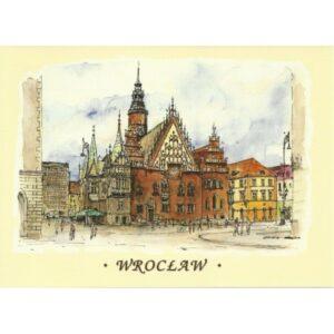 WROCŁAW WIDOKÓWKA AKWARELA CZ-WR-06