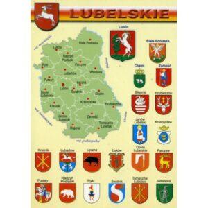 WOJEWÓDZTWO LUBELSKIE MAPKA HERBY WR800