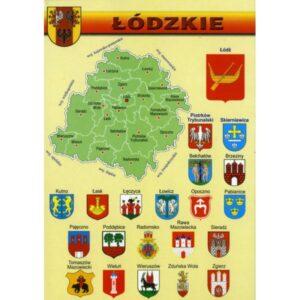 WOJEWÓDZTWO ŁÓDZKIE MAPKA HERBY WR805