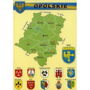 WOJEWÓDZTWO OPOLSKIE MAPKA HERBY WR807