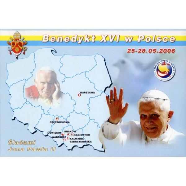 JAN PAWEŁ II BENEDYKT XVI HERB MAPKA WIDOKÓWKA WR824