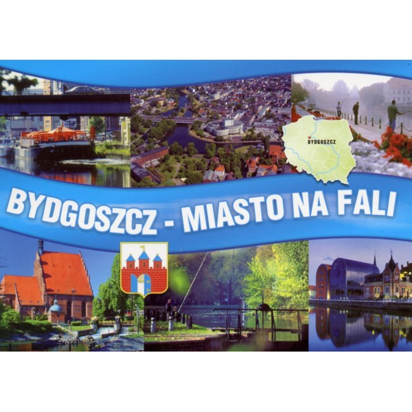 BYDGOSZCZ MAPKA HERB WIDOKÓWKA WR826