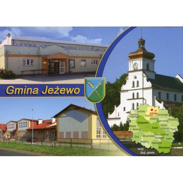 JEŻEWO GMINA HERB MAPKA WIDOKÓWKA WR891