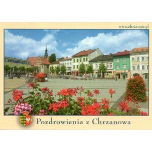 CHRZANÓW RYNEK HERB WIDOKÓWKA 10P241