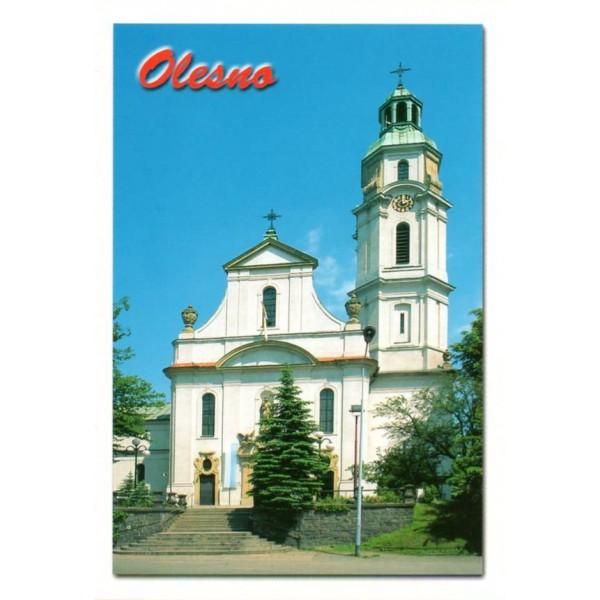 OLESNO KOŚCIÓŁ WIDOKÓWKA 00324