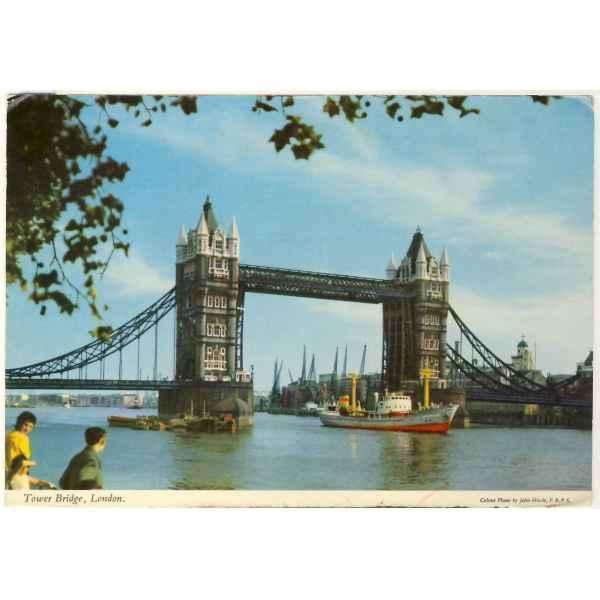 STATEK LONDYN TOWER BRIDGE WIDOKÓWKA A2582