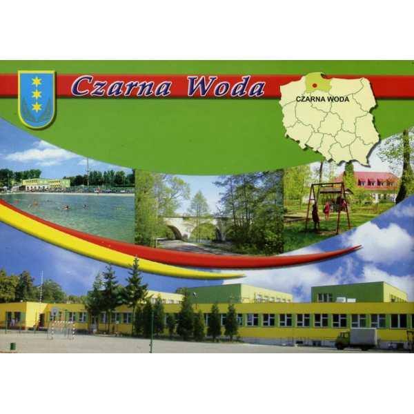 CZARNA WODA HERB MAPKA WIDOKÓWKA WR844