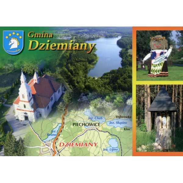 DZIEMIANY HERB MAPKA WIDOKÓWKA WR872