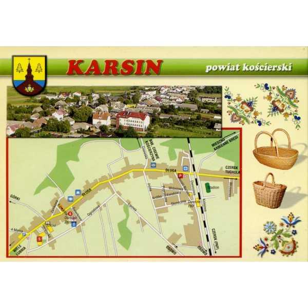 KARSIN MAPKA HERB WIDOKÓWKA WR903
