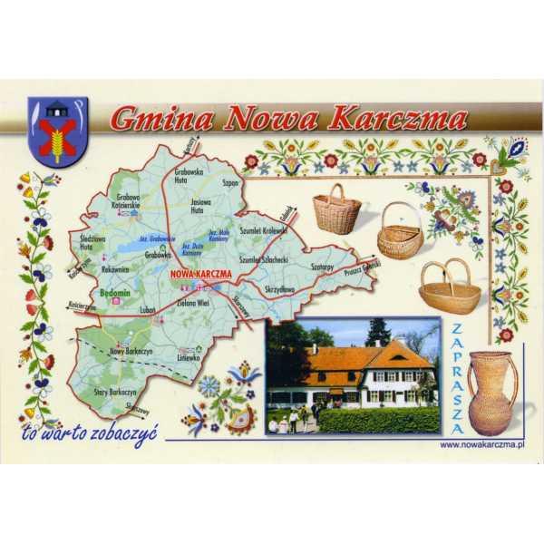 NOWA KARCZMA MAPKA HERB WIDOKÓWKA WR952
