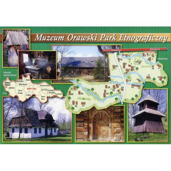 MUZEUM ORAWSKI PARK ETNOGRAFICZNY MAPKA WIDOKÓWKA WR819