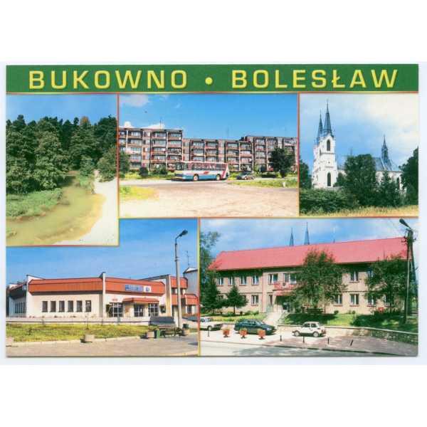 BUKOWNO BOLESŁAW AUTOBUS MALUCH WIDOKÓWKA A1973