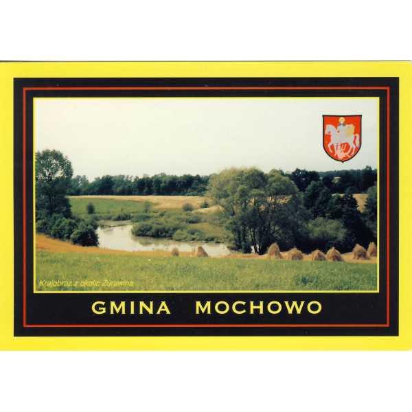 MOCHOWO ŻURAWIN HERB WIDOKÓWKA A1235