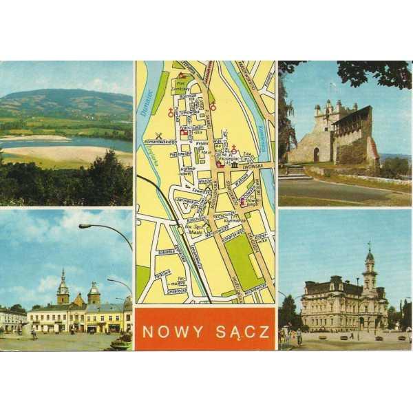 NOWY SĄCZ MAPKA WIDOKÓWKA A176