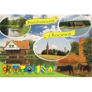 ZBLEWO AGROTURYSTYKA KOCIEWIA HERBY WIDOKÓWKA A1000
