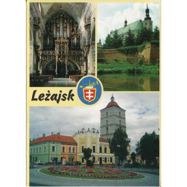 LEŻAJSK HERB WIDOKÓWKA A579