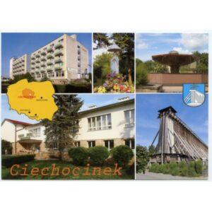 CIECHOCINEK HERB MAPKA WIDOKÓWKA WR1737