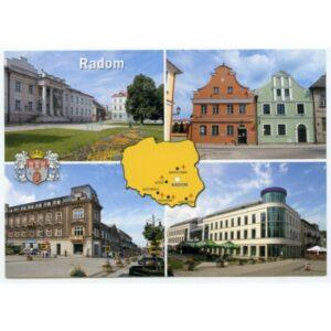 RADOM HERB MAPKA WIDOKÓWKA WR1771