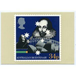 AUSTRALIAN BICENTENARY POCZTÓWKA A2723