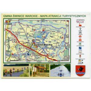 ŚWINICE WARCKIE HERB MAPKA KARTA WIDOKOWA A3319