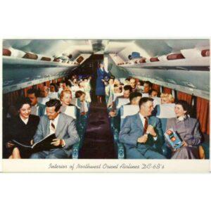 SAMOLOT NORTHWEST ORIENT AIRLINES DC-6B'S WIDOKÓWKA A3754