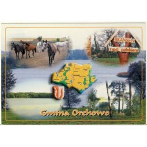 ORCHOWO MAPKA HERB WIDOKÓWKA A4001