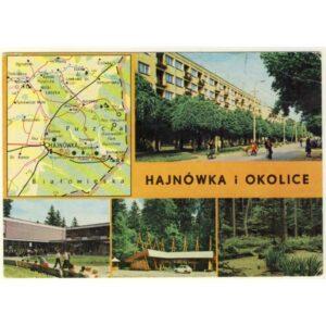 HAJNÓWKA I OKOLICE MAPKA WIDOKÓWKA A5351