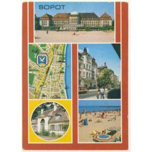 SOPOT MAPKA WIDOKÓWKA A5338