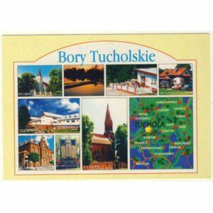 TUCHOLA BORY TUCHOLSKIE MAPKA WIDOKÓWKA A7326