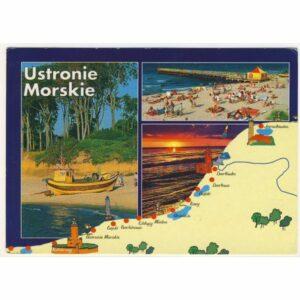 USTRONIE MORSKIE MAPKA WIDOKÓWKA A18463
