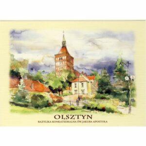 OLSZTYN AKWARELA WIDOKÓWKA CZ-OLSZ-01