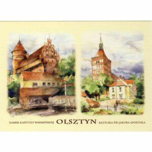 OLSZTYN AKWARELA WIDOKÓWKA CZ-OLSZ-03