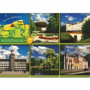 KOSZALIN MAPKA WIDOKÓWKA WR5508