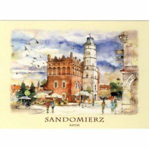 SANDOMIERZ WIDOKÓWKA AKWARELA CZ-SAND-02