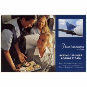SAMOLOT BLUE PANORAMA AIRLINES BOEING WIDOKÓWKA A11281