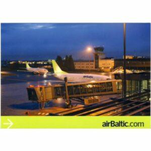 SAMOLOT AIR BALTIC WIDOKÓWKA A12444