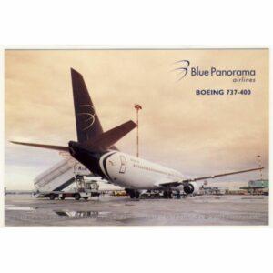 SAMOLOT BLUE PANORAMA AIRLINES BOEING WIDOKÓWKA A11282