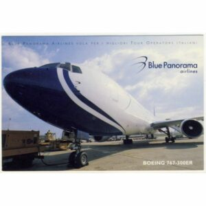 SAMOLOT BLUE PANORAMA AIRLINES BOEING WIDOKÓWKA A11284