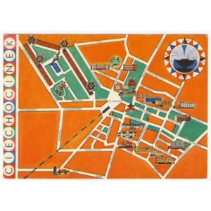 CIECHOCINEK MAPKA WIDOKÓWKA A15708