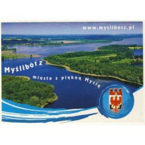 MYŚLIBÓRZ HERB WIDOKÓWKA A15960