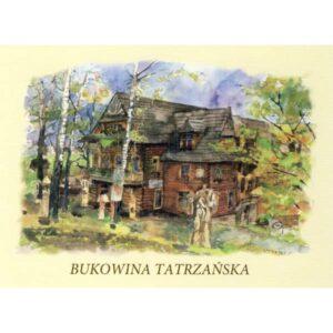BUKOWINA TATRZAŃSKA WIDOKÓWKA AKWARELA CZ-BU-01