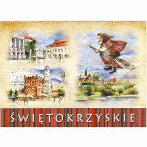 ŚWIĘTOKRZYSKIE WIDOKÓWKA AKWARELA CZ-KIE-04