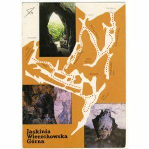 JASKINIA WIERZCHOWSKA GÓRNA MAPKA WIDOKÓWKA A18279