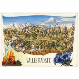 WŁOCHY VALLEE D'AOSTE MAPKA WIDOKÓWKA A18926