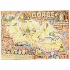 GORCE MAPKA WIDOKÓWKA A19597