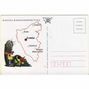 ŁOMŻA MAPKA KARTKA KORESPONDENCYJNA A20161